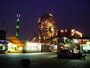 Carnival-Midway, big wheel, fairground