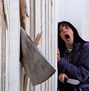 Screaming in the bathroom.  The Shining Meme