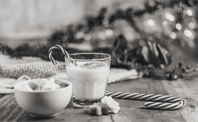 Featured Images - Seasons Greetings. Eggnog and marshmellows and candy canes