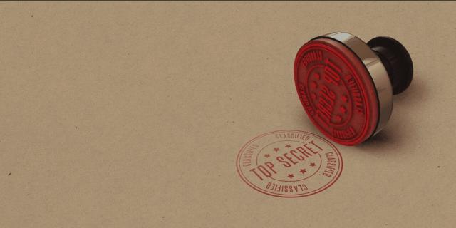 Blog Image - Top Secret folder with Top Secret stamped on it in red