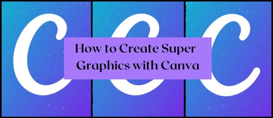 How To Create Super Graphics With Canva. Image of Canva's C logo