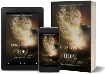 Book cover Hope by Reign Atkins.  Book 1 in the Hope Series