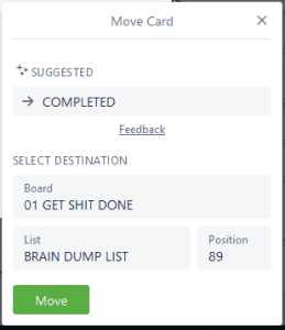 Trello move card option
