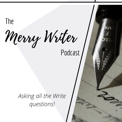 """The Merry Writer Podcast Artwork. Asking all the """"write"""" questions."""
