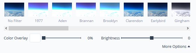 Visme Filter options