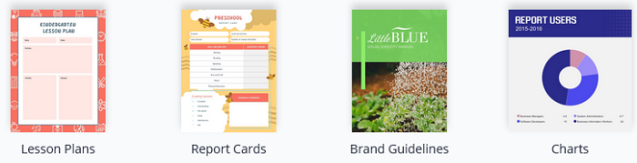 Visme Document Templates.  Lesson plans. Report Cards. Brand Guidelines. Charts