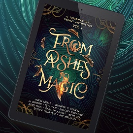 book cover from ashes to magic