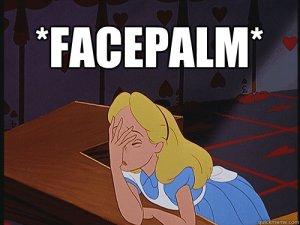 Alice In Wonderland Facepalm meme