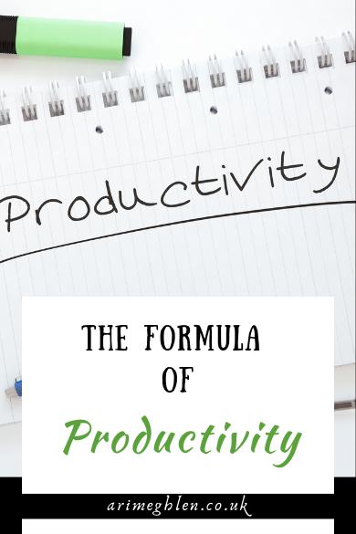 The Formula of Productivity blog post